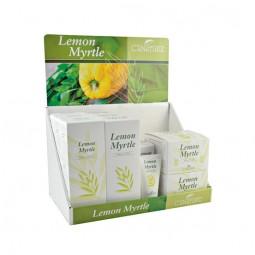 Display lemon myrtle 3 of each