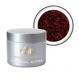 Colour Gel Glitter Rouge Noir 5ml