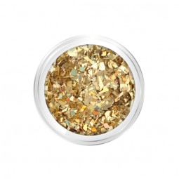 Nail Art Crushed Glitter Gold