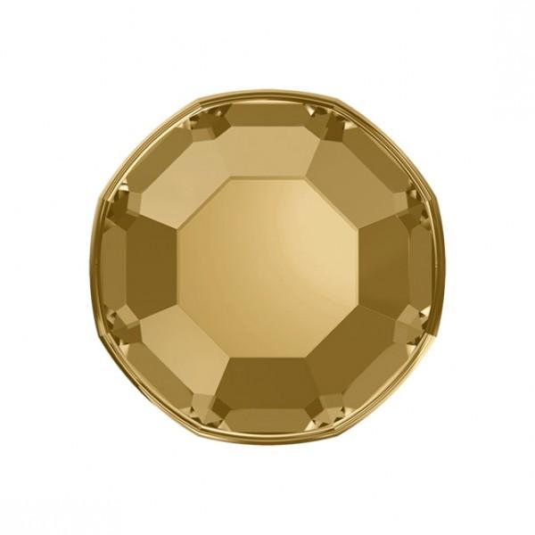 Rhinestones Light Gold Mini 50st