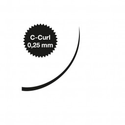 Captivating Lashes - 0,25 mm / C-Curl