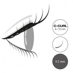 "Captivating Lashes ""Mixed Tray"" - 0,2mm/C-Curl 8-10mm"