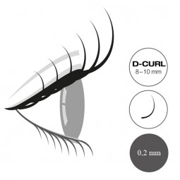 "Captivating Lashes ""Mixed Tray"" - 0,2mm/D-Curl 8-10mm"