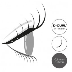 "Captivating Lashes ""Mixed Tray"" - 0,2mm/D-Curl 14-16mm"