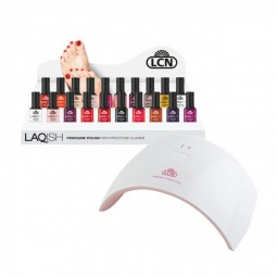 LAQISH Pedicure Polish Plus8 ml+ Perfect Cure Lampa LED