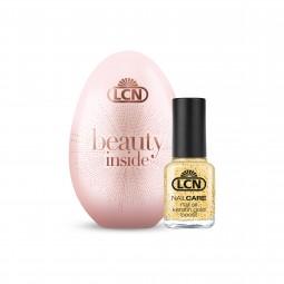 Presentförpackning Beauty egg rosa med Nail Oil Keratin Gold Boost