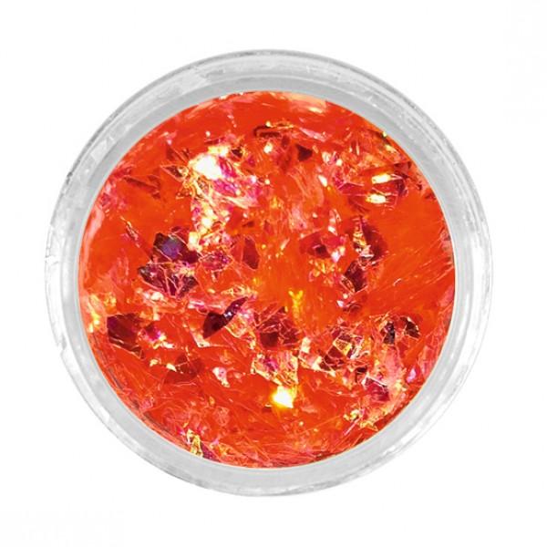 Nail Art Crushed Neon Orange