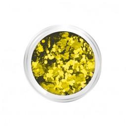 Nail art confetti gold